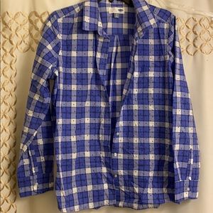 Old Navy Plaid Dot Button Up